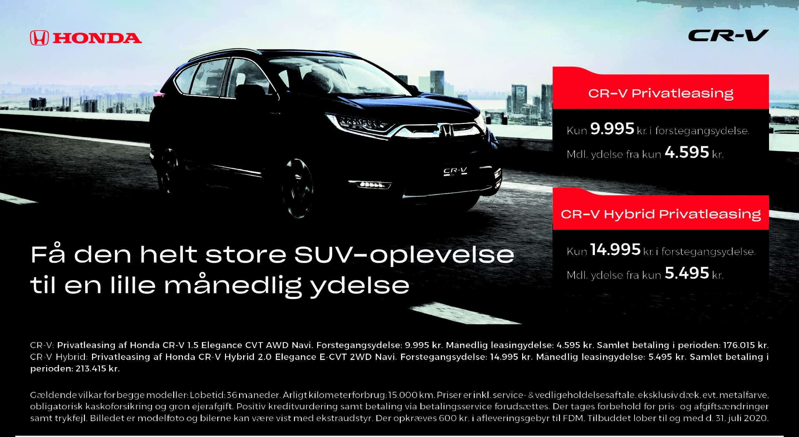 CR-V – privatleasing